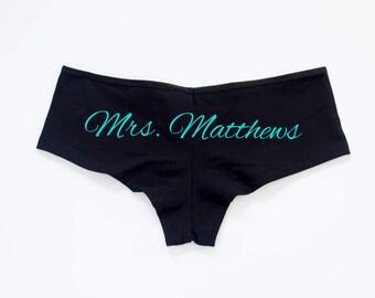 Bachelorette Underwear // Bachelorette Panties // Bachelorette Lingerie // Wedding Panties // Wedding Underwear // Something Blue Panties
