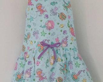 Mermaid dress, girls dress, mermaid party, peter pan, party dress Kids clothing, uk
