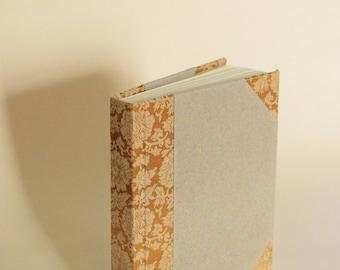 Gray and Gold Half Cloth Book