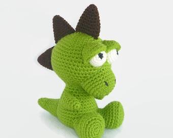 Amigurumi Dinosaur, Crochet Dragon, Baby Dragon, Toy Dinosaur, Plush Dinosaur, Dragon Softie, Hand Made Toy, Baby Safe Toy, Australian Made.