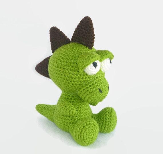 Amigurumi Dinosaurier, häkeln Baby-Drachen, Spielzeug Dinosaurier, Plüsch Dinosaurier, Drachen, Drachen Softie, handgemachte Spielzeug, Baby sicher ...