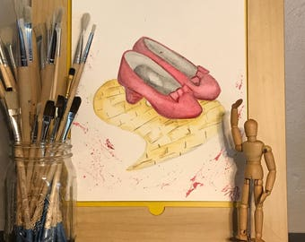 Ruby Red Slippers Watercolor