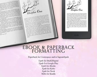 Book Formatting for Ebooks and Paperbacks~Fancy Chapter Headings or Plain