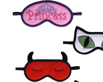 Sleep Mask Sample, Princess blindfold, Queen face mask, Violet tiara crown, Pink meditation eye pillow gift for her, Relax sleeping eyemask