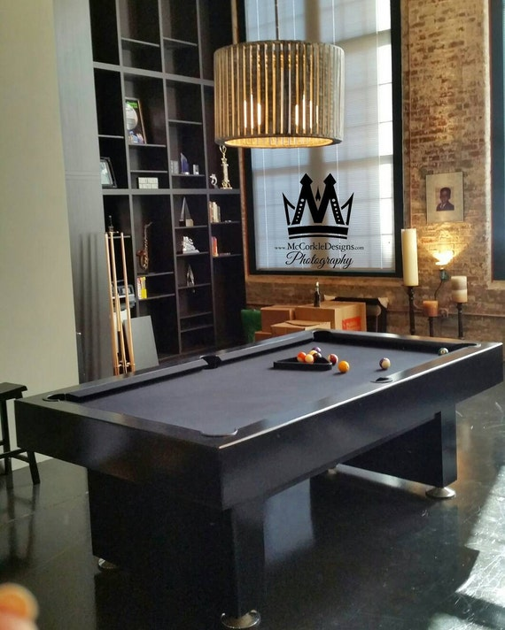 Ft Modern Pool Table With Black Lacquer Finishand Grey - Modern slate pool table