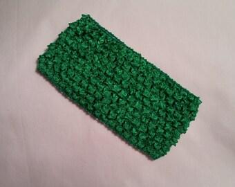 Kelly Green Crochet Headband, Kelly Green Headband, 2.75 Inch kelly green crochet headband, kelly green 2.75 inch headband, green headband