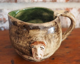 Runnaford Pottery Cream Pitcher or Small Mug - Will Young, Devon Pottery - Widecombe-on-the-Moor