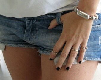 Big Ball Chain Bracelet, Silver Ball Bracelet, Silver Ball Chain Bracelet, Statement Bracelet, Big Silver Bracelet