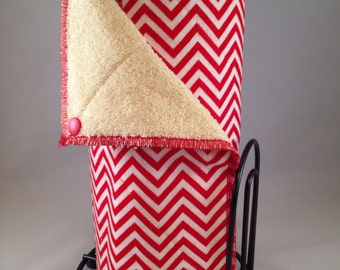 Snapping UnPaper Towels - Red Chevron Small