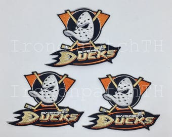 Anaheim Mighty Ducks Embroidered Iron On Patch - Set 3 PCS.