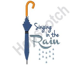 Umbrella - Machine Embroidery Design, Singing In The Rain