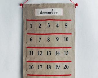 Advent Calendar - linen