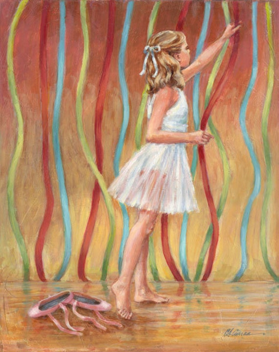 "Before the Recital by Carol Ann Curran - Fine Art Print - Double Matted to 11"" x 14"" (Image Size 8"" x 10"") - Ballet"
