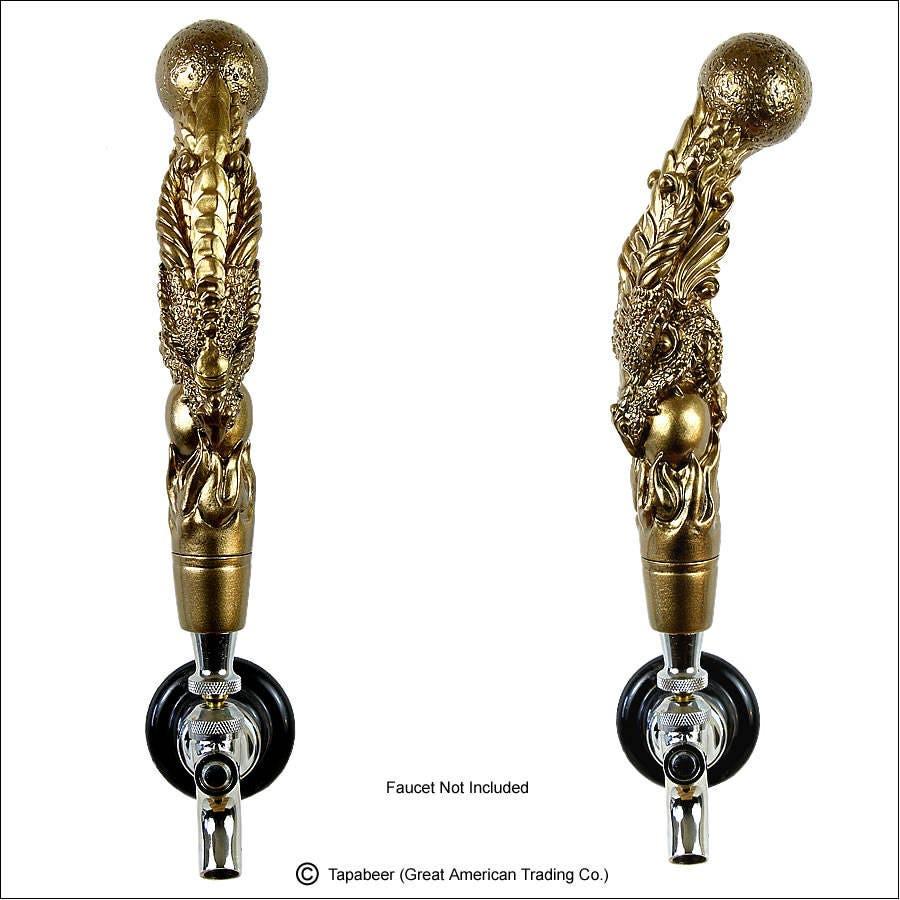 Dragon Beer Tap Handle kegerator tap handle Golden Bronze