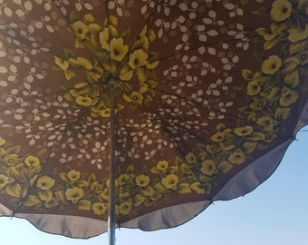 Vintage umbrella, Rain umbrella, Retro umbrella,  Floral umbrella, Folding umbrella, Ladies umbrella