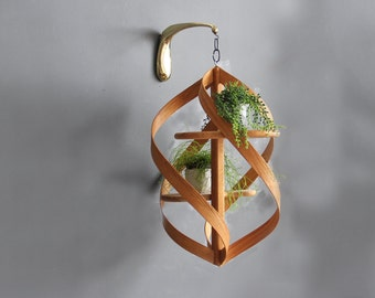 Extra Large Modern Bentwood Hanging Plant Stand