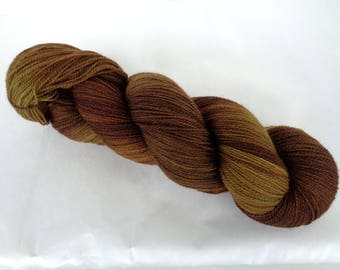 Merino lace yarn, hand painted lace yarn, hand dyed lace yarn, superwash lace yarn, VERY MUDDY MEADOW, 3.5oz/700yds, 100g/630m, 100% wool
