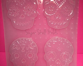 Large Sugar Skull Plastic Mold For Resin You Choose From 4 Styles