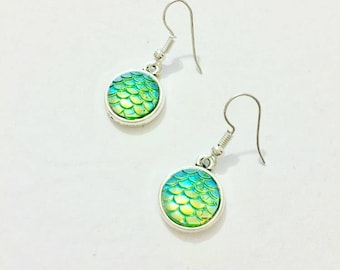 Dragon Scale egg earrings, Dragon earrings, Dragon Fanatasy inspired earrings,  item 568 by CraftyLittleMonkaeyGB