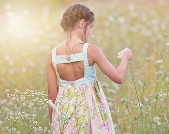 Winnie Pinnie Dress PDF Pattern, including sizes 12 months-8 years, Sundress Pattern, Girls Dress Sewing Pattern