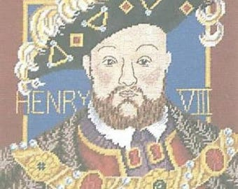King Henry VIII Tapestry Needlepoint Canvas DMC