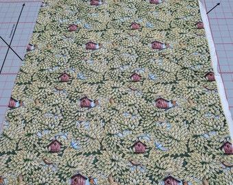 Birdhouse Cotton Fabric