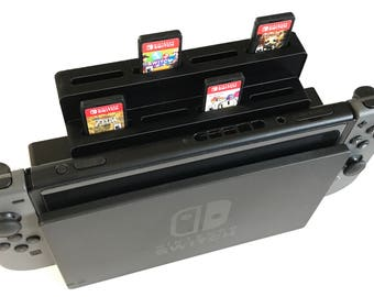 Nintendo Switch Dock Game Cartridge 8 Slot Add-On | Holds 8 Games | Lightweight | Nintendo Switch Accessory | Multiple Colors | Slide On/Off