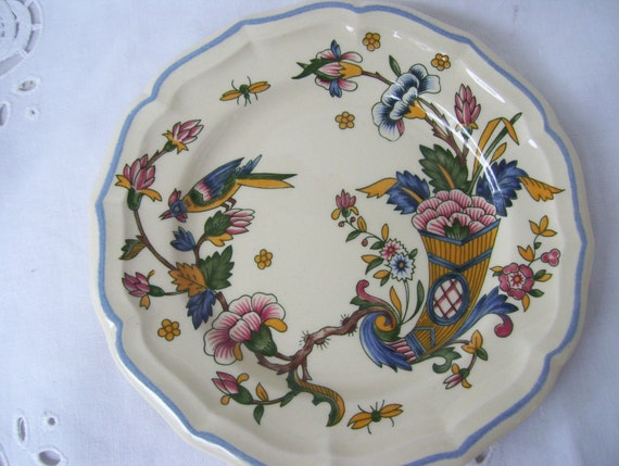 & Vintage French Plates from Gien France Gien Corne