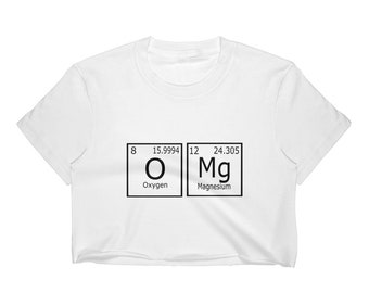 Periodic Table OMg Women's Crop Top