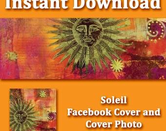 Instant Download - Soleil Facebook Cover Set
