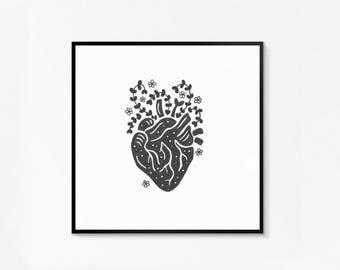 Garden Heart Print