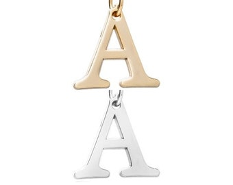 "Letter ""A"" (Silver or gold tone) [5 pieces]"