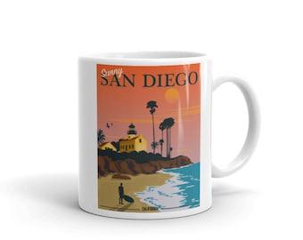 Sunny San Diego California Sunset | Coffee Mug
