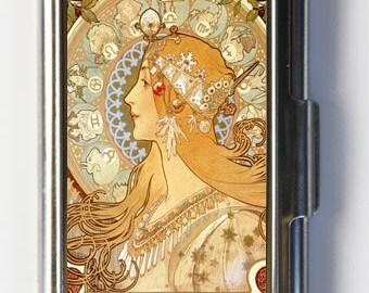 Art Nouveau Goddess Mucha Business Card Holder Card Case