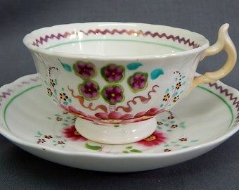 A 19th century Cup & Saucer Duo (Pattern 343)