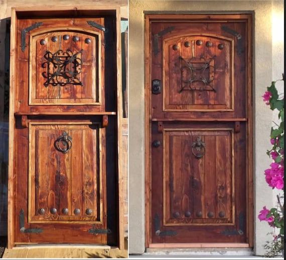 Reclaimed Lumber Rustic Dutch Door W/ Hard Ware Speakeasy