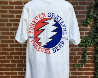 Vintage Grateful Dead tshirt 1995 mens size L Forever Grateful Forever Dead