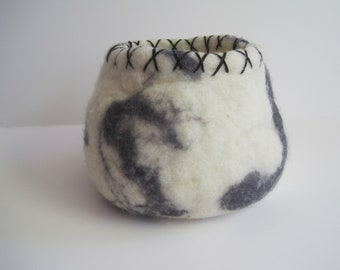 Wet Felted Vessel / Felted Bowl