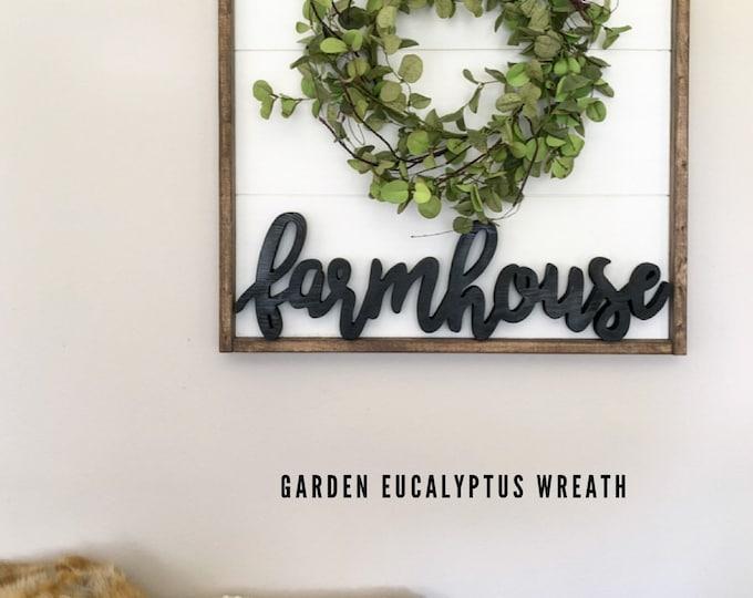 24 x 24 Farmhouse Wall Decor - Farmhouse Sign - Farmhouse sign with wreath - Wood Farmhouse Sign - Farmhouse Wood Sign - Farmhouse Decor