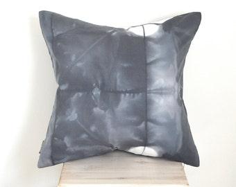 Charcoal Grey Shibori 20x20 Pillow Cover - Slate