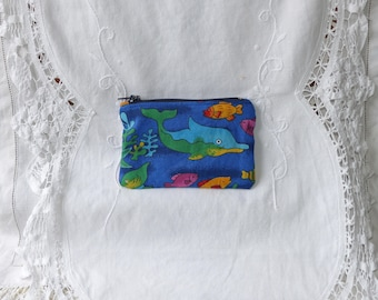 Coin purse or cosmetic sea fish