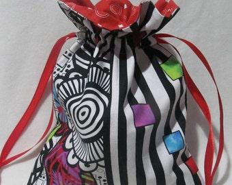 Toy Bag, Snak Bag, Gift Bag, Book Bag, Block Bag, Small Drawstring Bag