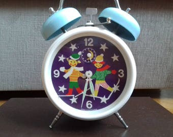 Kids Mechanical Alarm Clock made by Insa Yugoslavia