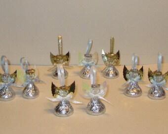 Baptism Favor, Christening Favor, First Communion Party Favor, Custom Angel Favor, Wedding Shower Favor - Set of 24 - Chocolate Candy Angels
