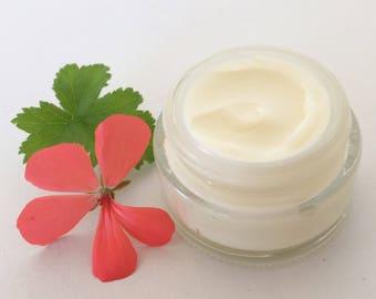 GERANIUM FACE CREAM, Night Firming Face Cream, All Natural, Zero Waste, Plastic Free