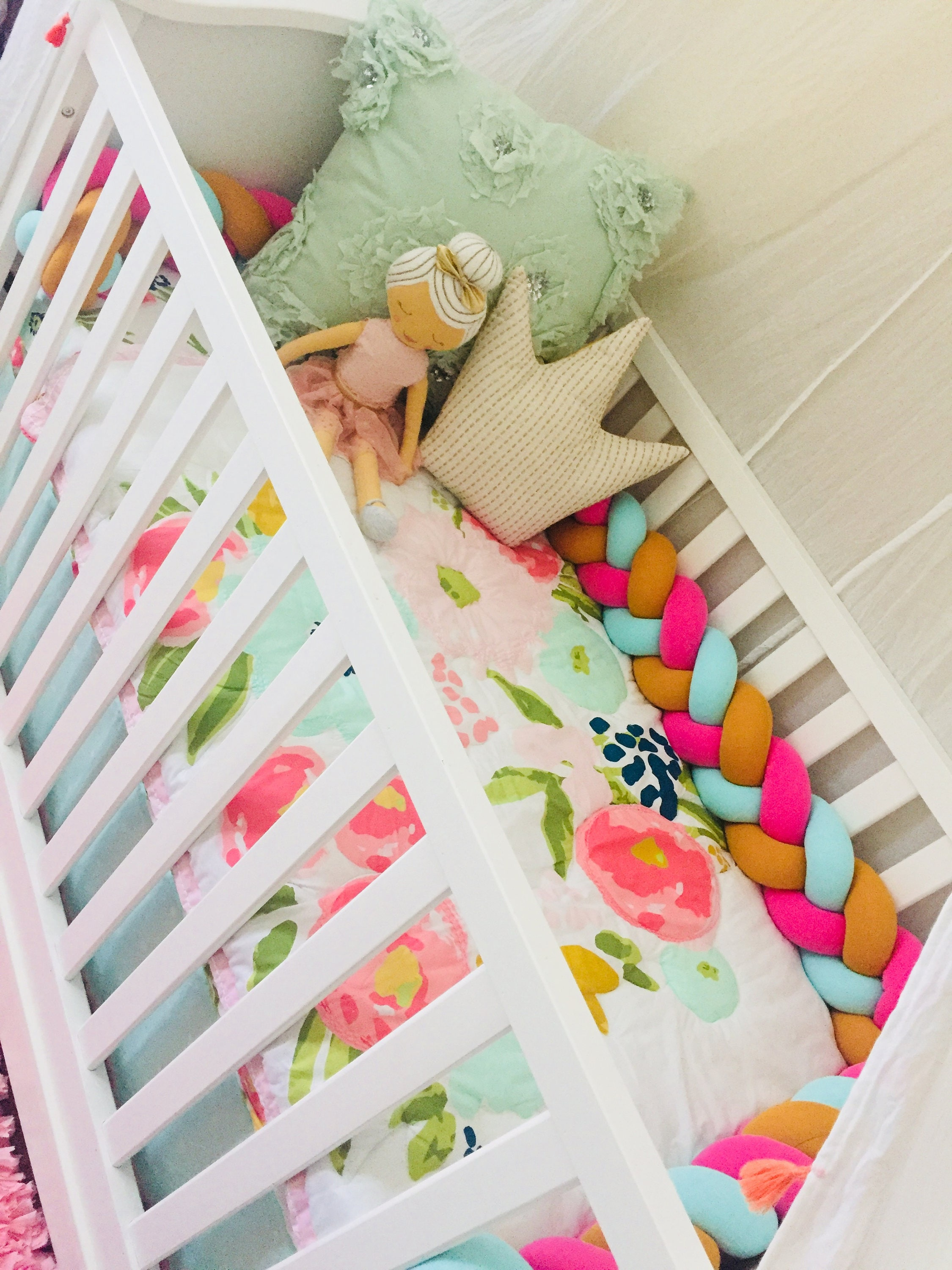 crib babies ruffle designs carousel bumper large strips accent bumpers baby all ritzy and designer with