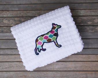 Embroidered German Shepherd Towel, Kitchen Towel, German Shepherd decor, Kitchen Decor, Dog Decor