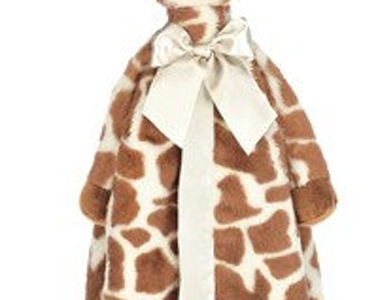 Personalized Patches Giraffe Snuggler Blanket