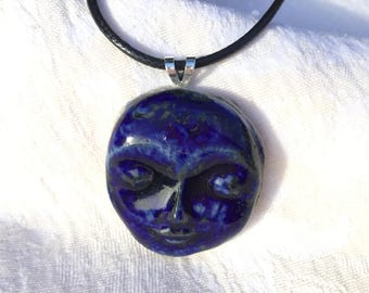 Blue Goddess Pendant Necklace