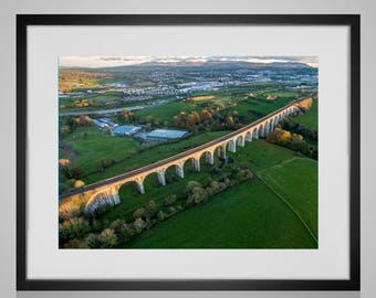 The beautiful 18 Arches (Craigmore viaduct) Bessbrook Co Armagh Ireland - A3 framed print - black friday special!